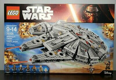 Authentic LEGO Star Wars Millennium Falcon Retired Set 75105 New Factory Sealed