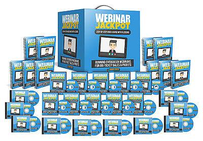 Webinar Jackpot 9 Part Video Series Set W Master Resell Rights