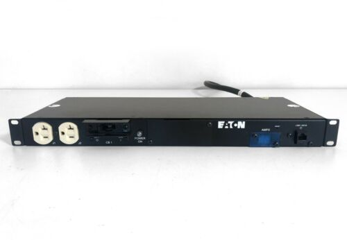 EATON T982A1-N-SS-109 Monitored Rackmount Network PDU 12 Outlets