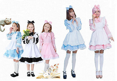 Parents Baby Halloween Costumes (Parent-Child clothing Halloween Cosplay Party Costume Maid Lolita Fancy Dress)