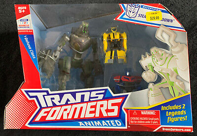 TRANSFORMERS ANIMATED STEALTH LOCKDOWN WITH BUMBLEBEE OPTIMUS PRIME NEW SEALED