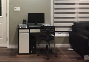 IKEA computer table with side drawer
