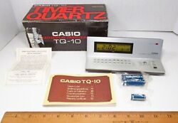 Vintage 1979 Casio Computer Japan TQ-10 Timer Quartz LCD Alarm Clock Boxed Works