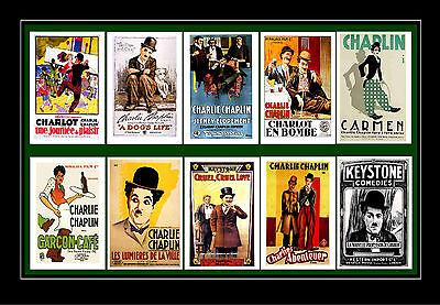 CHARLIE CHAPLIN  -  FILM POSTERS POSTCARD SET # 1 - Charlie Chaplin-film Poster