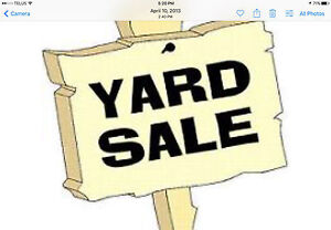 Yard sale moving  starting to down size.