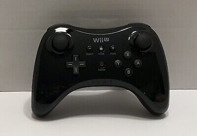 Nintendo Wii U Pro Controller - Black - Refurbished - Tested 002