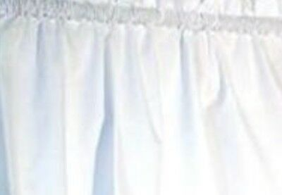 "Irrefutable Crisp White Valance Cotton fabric 42""wide 15""L Bedroom Den Living Room"