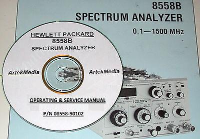Hp Hewlett Packard 8558b Operating Service Manual Late Model Serial S