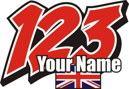 RACE+NUMBERS+PLUS+FLAG+AND+NAME+DECALS+STICKERS+GRAPHICS++GRAPHICS++x3