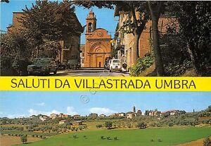 Cartolina-Postcard-Saluti-da-Villastrada-Umbra-vedutine-1990