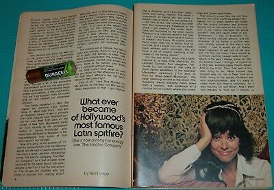 1972 TV ARTICLE~RITA MORENO~ELECTRIC COMPANY~LATIN SPITFIRE~WEST SIDE STORY