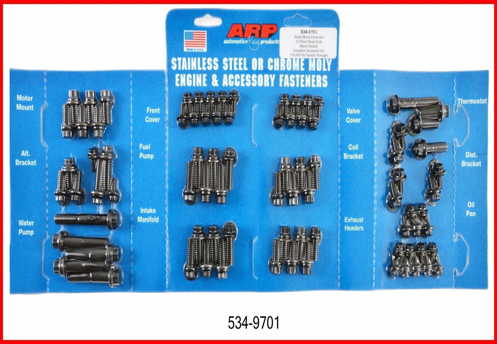 ARP 5349701 Black Oxide Steel 12-Point Engine /& Fastener Kit