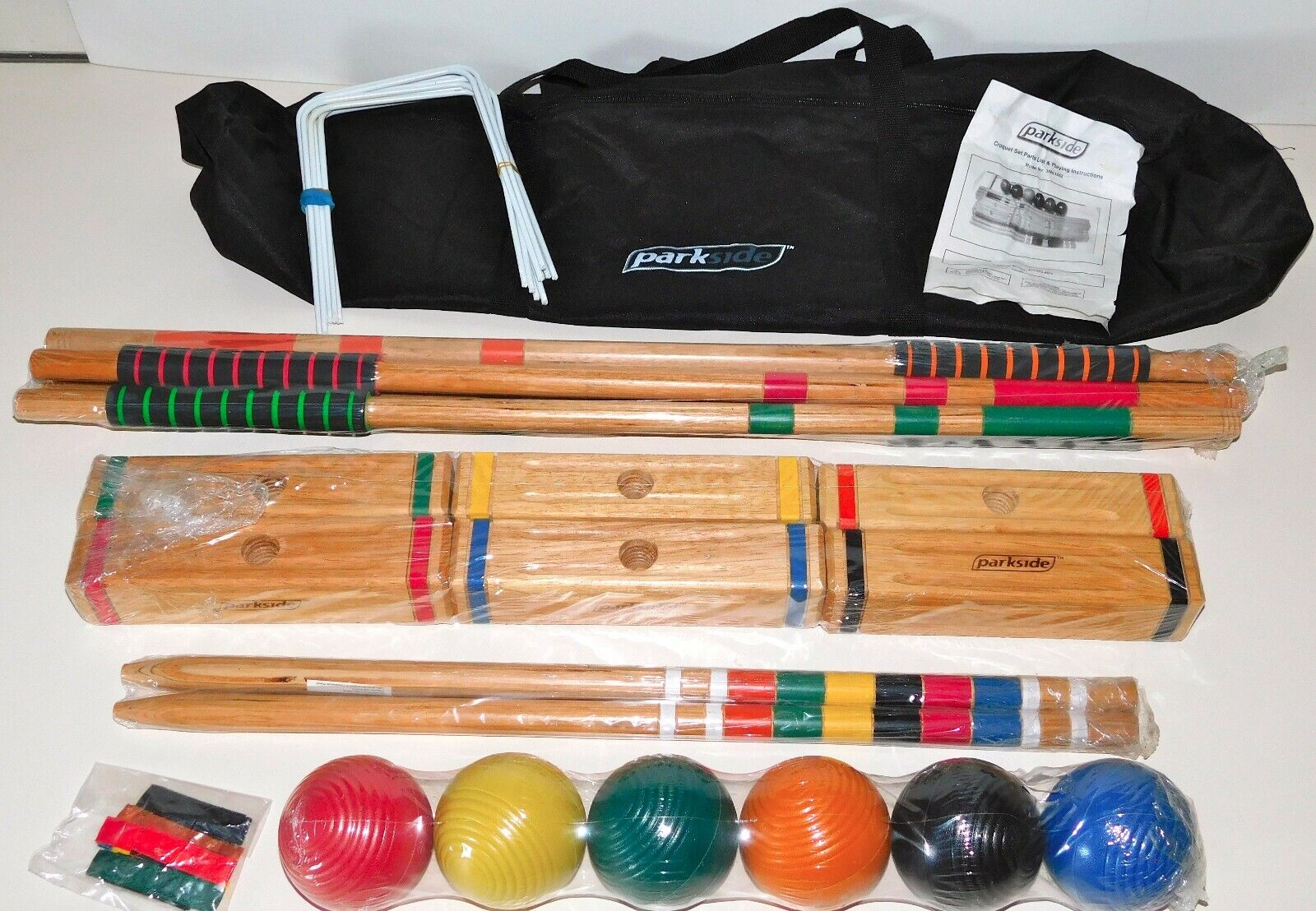 *NEW* ~ Parkside Croquet Set w/ Soft Carrying Case ~ 6 Playe