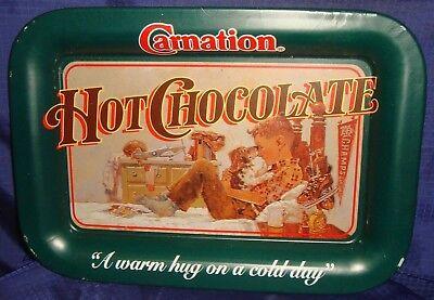 RP1261 Vtg Carnation Milk Hot Chocolate Trinket Change Tray Boy & His Dog