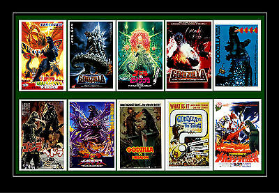 GODZILLA  - FILM POSTER POSTCARD SET # 2
