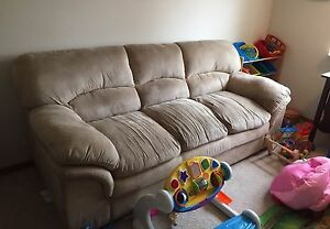 Free beige microfibre couch