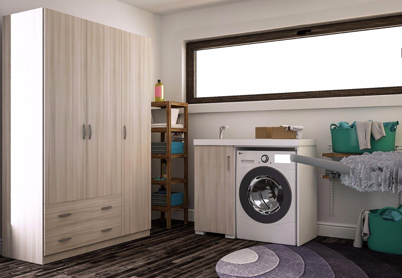 Armadio 3 ante 2 cassetti guardaroba soggiorno cucina area for Armadio soggiorno