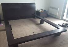 Contemporary wooden bed frame for sale Sandringham Bayside Area Preview