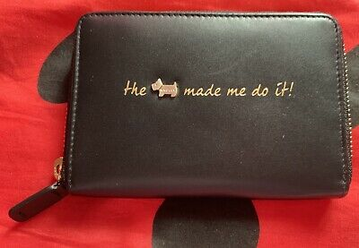 "Radley Black Leather ""Excuses, Excuses"" The Dog Made Me Do It Purse/Wallet"