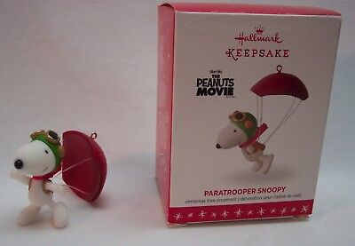 PARATROOPER SNOOPY The Peanuts Movie Hallmark Keepsake CHRISTMAS ORNAMENT 2016 for sale  Shipping to Canada
