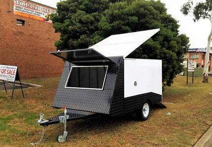 Gloss White Motorbike Carrier/Trailer With Black checkerplates Ingleburn Campbelltown Area Preview