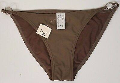 NWT XXI green bikini swimsuit bottoms metal ring accents ladies juniors Medium for sale  Shipping to India