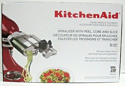 NEW! KitchenAid 5 Blade Spiralizer with Peel, Core and Slice, KSM1APC Free Ship
