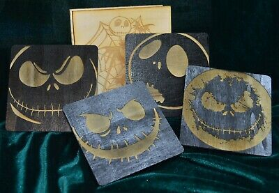 The Nightmare Before Christmas Wooden Coasters and Holder