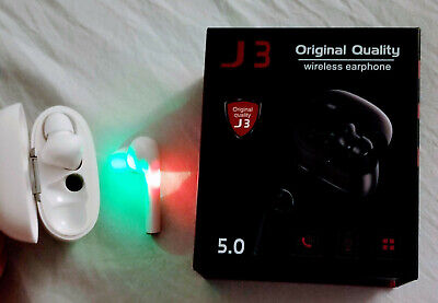J3 wireless earphone, original quality, smart technology one touch, 5.0.