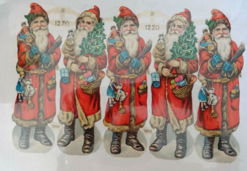 Christmas Santa Die Cuts Old World Charm Pictures Vtg Scraps Germany Paul Zoecke