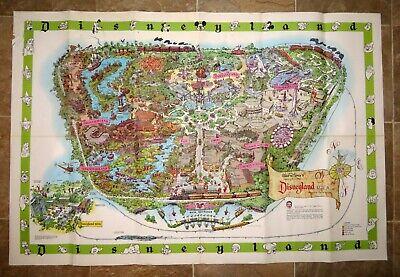 Vintage Original 1964 Disneyland Magic Kingdom Souvenir Guide Map Poster