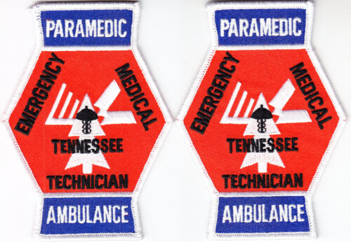 Tennessee  PARAMEDIC AMBULANCE Emergency Medical Technician 2 patches TN EMT