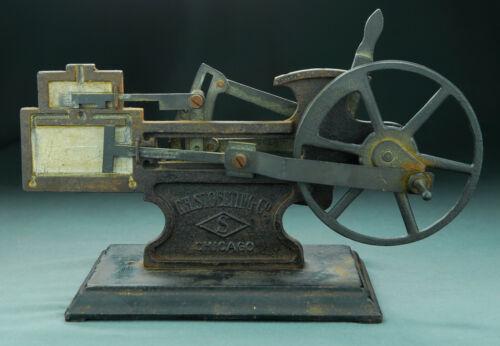 Antique Stoelting Cut Away Cast Iron Brass Steam Engine Demonstrator Sample