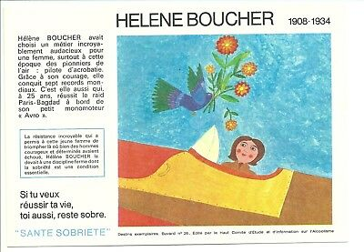 2 Buvards Sécurité Sobriété - HELENE BOUCHER N°26, (21 à 30 disponibles)