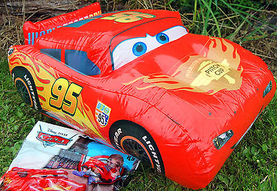 Disney Pixar CARS Mcqueen Inflatable Car 41cm Long Great Toy FUN FUN FUN