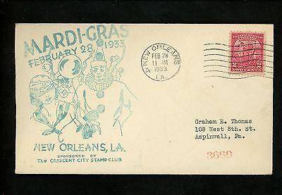 US Postal History States Related Mardi-Gras Costumes 1933 New Orleans LA](Postal Costume)