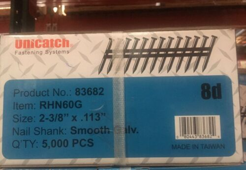 "2-3/8"" x .113 GALV, Smooth 21° Framing Nails 5000/Case Hitachi,DeWalt,Senco"