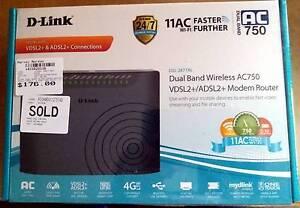 D-Link Dual Band Wireless AC750 VDSL2+/ADSL2+ Modem Router Nairne Mount Barker Area Preview