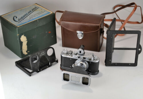 EXC USSR STEREO ATTACHMENT FOR ZORKI CAMERAS, BOXED SET WITH ACCESSORIES