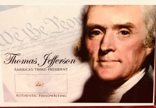 Thomas Jefferson 4x6 Photo With Authentic Hand-Written Word (do) Cut (JSA LOA)