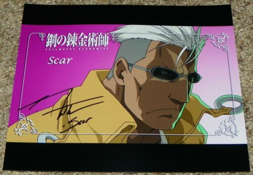 J Michael Tatum Scar Fullmetal Alchemist Brotherhood Signed 8x10 Photo Auto #1