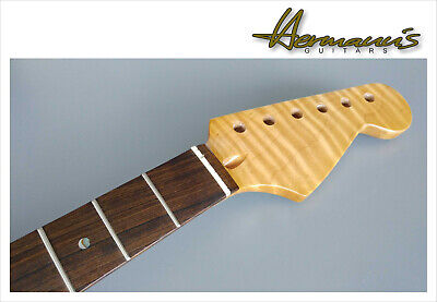 Stratocaster Roasted Flamed Maple Neck, Ovangkol Griffbrett und Abalon Dots *SF