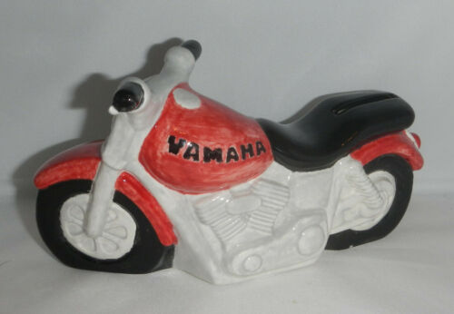 Yamaha Motorcycle Ceramic Coin Piggy Bank Dad Fathers Day