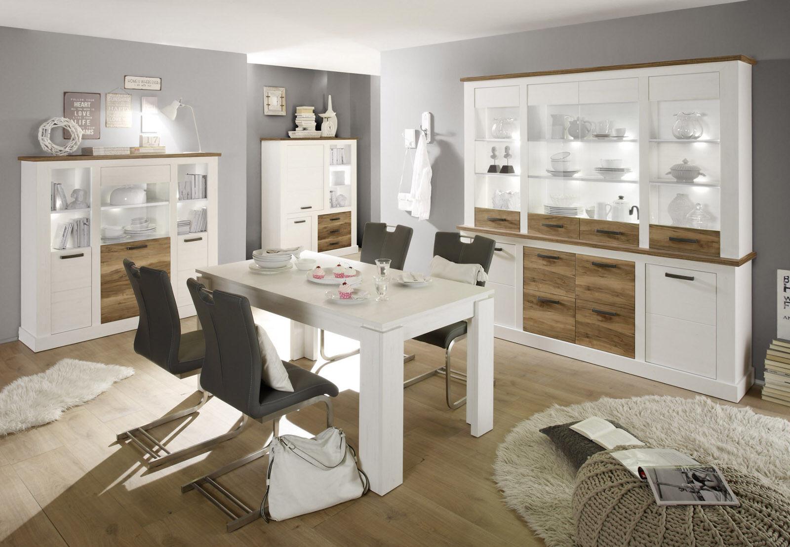 buffet schrank weiss pinie nussbaum anrichte landhaus. Black Bedroom Furniture Sets. Home Design Ideas