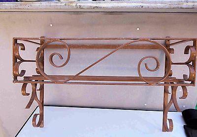 Alter Blumenkastenhalter Wandhalter Eisen B 66 cm Eisen