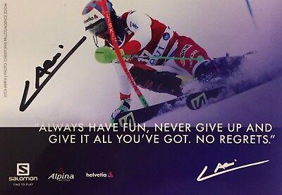 Autogramm Luca Aerni Ski alpine Schweiz Olympiasieger 2018 Weltmeister 2017 SAL#