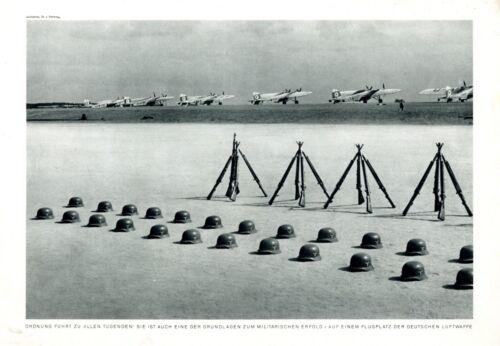 Airfield of German Airforce WW 2 XL 1940 photo illustration stahlhelm helmet