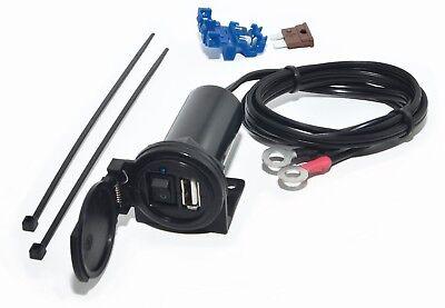 USB Ladesteckdose mit Schalter für Motorrad, PKW, usw, Lagegerät für Handy, Navi