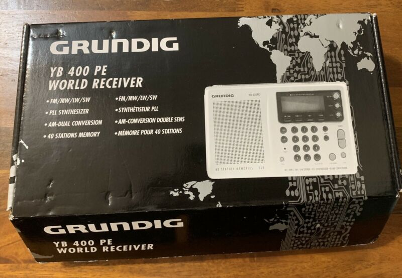 Grundig YB 400 PE World Receiver AM FM Short Medium Long Wave in Box + Sangean