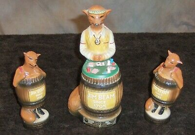 VINTAGE JIM BEAM FOX VEGAS DEALER AND PLAYERS 11TH CONVENTION DECANTER FREE SHIP